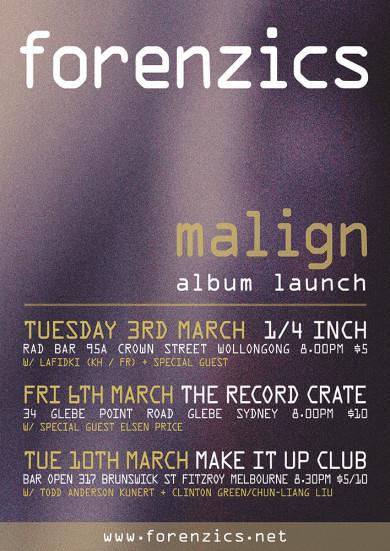 Forenzics Malign Album Launch eFlyer